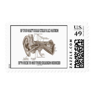 If You Can't Hear What I Am Saying (Ear Anatomy) Stamps