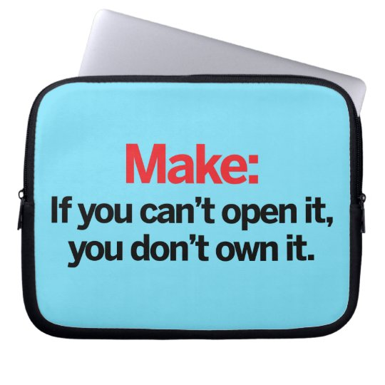 If you can't open it computer sleeve