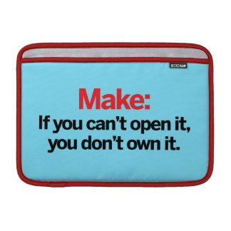 If you can't open it MacBook sleeves