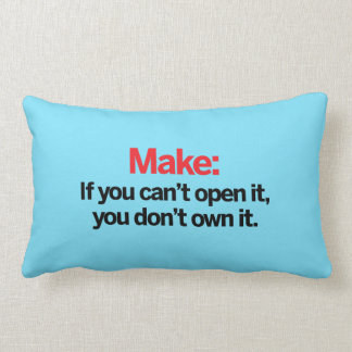 If you can't open it throw pillow