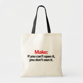If you can't open it tote bag