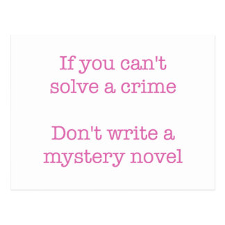 If you can't solve a crime.. postcard