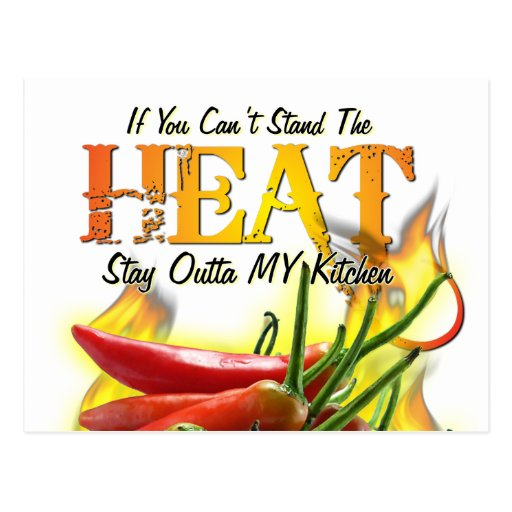 If You Can't Stand the Heat, Stay Outta MY Kitchen Post Card