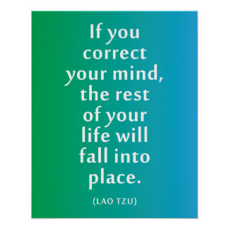 If you correct your mind... Inspirational Poster