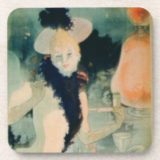 'If You Cough, Take Geraudel Pastilles' (colour li Beverage Coaster