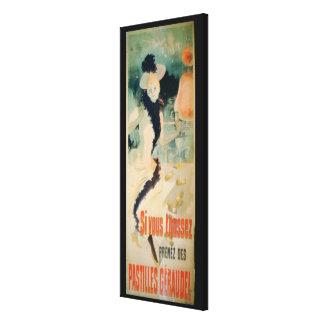 'If You Cough, Take Geraudel Pastilles' (colour li Canvas Print
