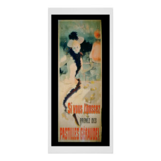 'If You Cough, Take Geraudel Pastilles' (colour li Poster