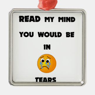if you could read my mind you would be in tears2.p metal ornament