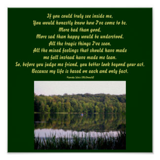 If you could truly see inside me...Poem Poster