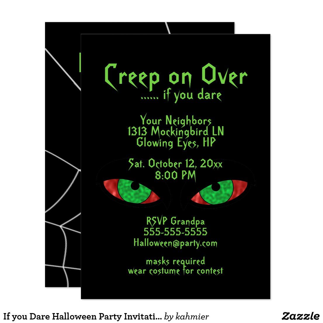If you Dare Halloween Party Invitations