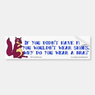 If you didn't have feet you wouldn't wear shoes. car bumper sticker