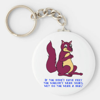 If you didn't have feet you wouldn't wear shoes. basic round button keychain