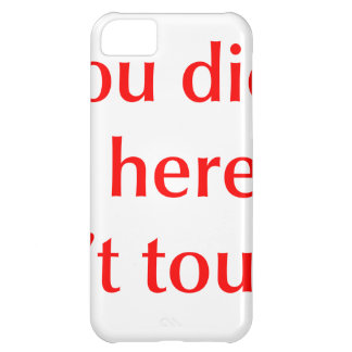 if-you-didnt-put-it-here-opt-red.png case for iPhone 5C
