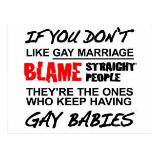 If you don't gay marriage postcard