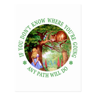 If You Don't Know Where You're Going Any Path Will Postcard