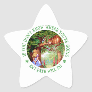 If You Don't Know Where You're Going Any Path Will Star Sticker