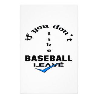 If you don't like baseball Leave Stationery