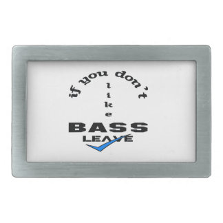 If you don't like bass Leave Rectangular Belt Buckle