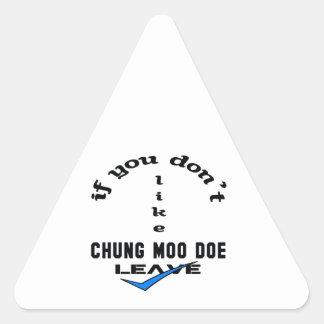 If you don't like Chung Moo Doe Leave Triangle Sticker