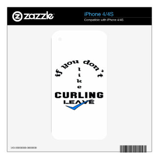 If you don't like Curling Leave iPhone 4 Decal