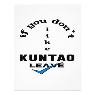 If you don't like Kuntao Leave Letterhead