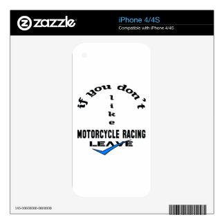 If you don't like Motorcycle Racing Leave Decal For iPhone 4