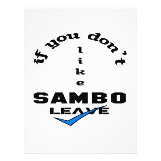 If you don't like Sambo Leave Letterhead