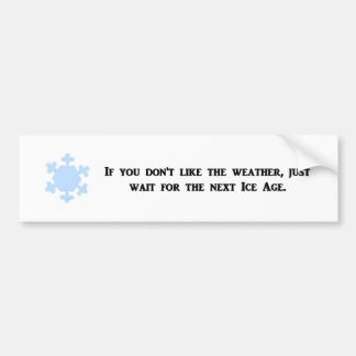 if-you-dont-like-the-weather-just-wait-for-the bumper sticker