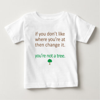 If you don't like where your at then change it... baby T-Shirt