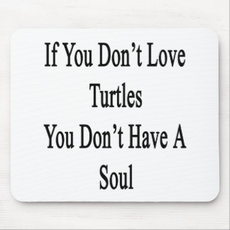 If You Don't Love Turtles You Don't Have A Soul Mouse Pad