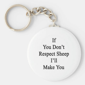 If You Don't Respect Sheep I'll Make You Key Chain