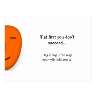 If You Don't Succeed - Send a Smile Postcard