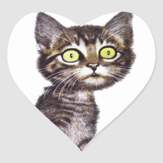 If you don't talk to your cat about catnip heart sticker