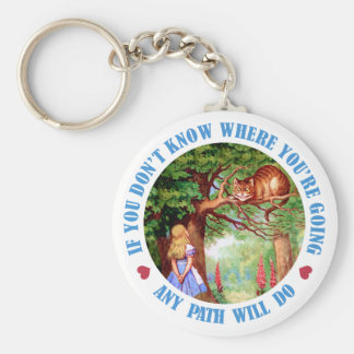 IF YOU DON'T WHERE YOU'RE GOING, ANY PATH WILL DO KEYCHAIN