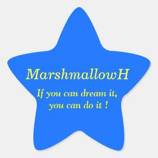 If you dream, as for dream the Kanai u! Dictum Star Sticker