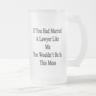 If You Had Married A Lawyer Like Me You Wouldn't b 16 Oz Frosted Glass Beer Mug