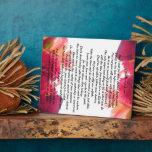 If you have a dream poem Flowers theme Plague Plaque