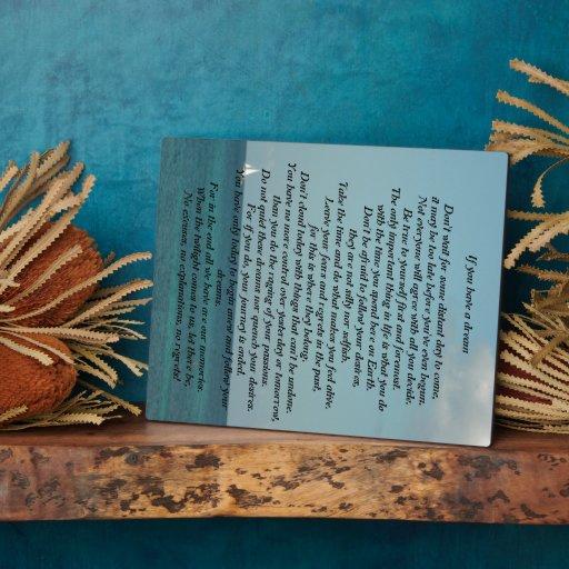 If you have a dream poem sea sky  theme Plague Photo Plaques