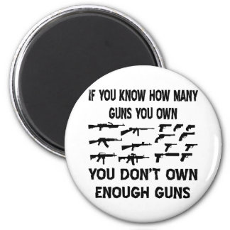 If You Know How Many Guns You Own 2 Inch Round Magnet