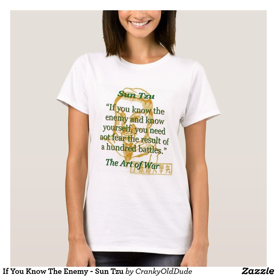 If You Know The Enemy - Sun Tzu T-Shirt - Best Selling Long-Sleeve Street Fashion Shirt Designs