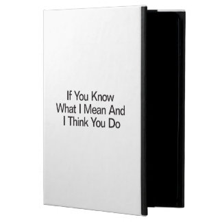 If You Know What I Mean And I Think You Do iPad Air Cover