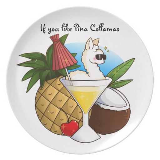 If You Like Pina Collamas Plates
