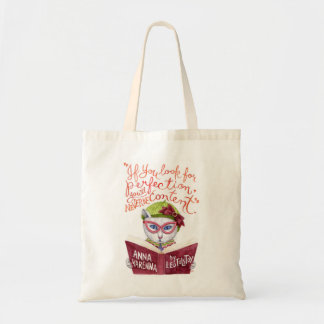 """""""If you look for perfection"""" Leo Tolstoy quote Tote Bag"""