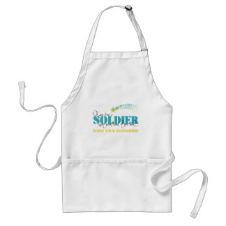 If you love a soldier raise your hand adult apron