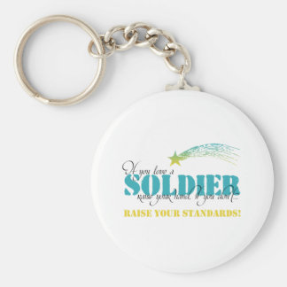 If you love a soldier raise your hand keychains