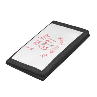 If You Love Gin You Will Love People Trifold Wallet