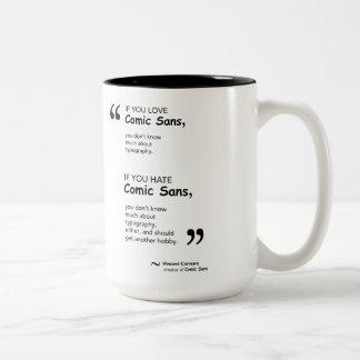 If You Love/ Hate Comic Sans Two-Tone Coffee Mug