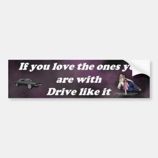 If_You_Love_the_Ones_purple_cloud Bumper Sticker