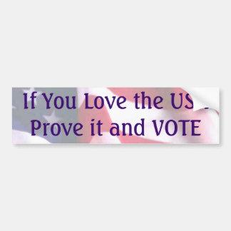 If You Love the USA Car Bumper Sticker