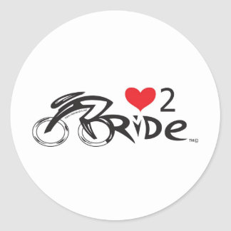 IF YOU LOVE TO  RIDE !!!! Let the world !!!!!!! Classic Round Sticker